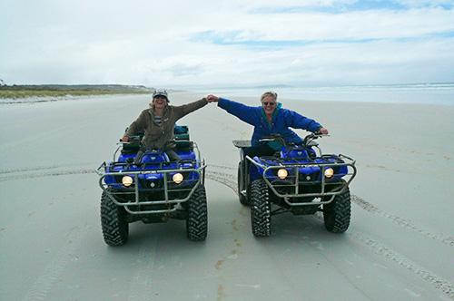 Quad Biking on the beach in the Far North